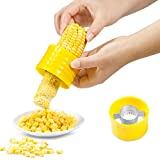 Cob Corn Stripper Stainless Steel Corn Thresher Tools Manual Corn Threshing for Removing Kernels from Fresh Corn 1pc