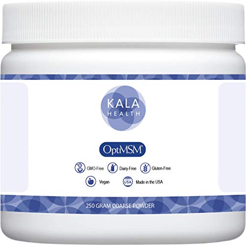 Kala Health - OptiMSM (Methylsulfonylmethane) MSM Powder Coarse Flakes (Crystals) 250g, pure MSM Supplement, produced in the United States of America. by Kala Health