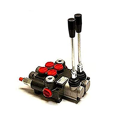 CHIEF G Series P40 Directional Control Valve: 2 Spool 4 Way 3 Position Spring Center, 21 GPM, 3625 PSI, SAE 10 Inlet and 10 Outlet Ports and SAE 10 Work Ports, 1500-3625 PSI Relief Setting, 220907 by Bailey Hydraulics