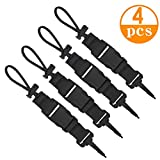 Genleas 4 Packs Diving Coil Lanyard Quick Release Scuba Diving Lanyard for...