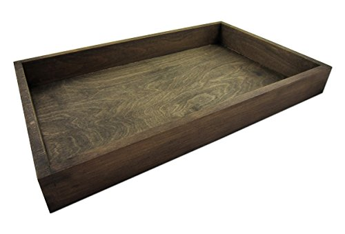 GREEN24 Gewächshaus Style-Box Dunkelbraun GK5331D - Buche Massivholz dunkel gebeizt - Holzkasten für Bewässerungswanne + Topfplatten/Anzuchtsets/Hydroponik Zimmer-Gewächshäuser