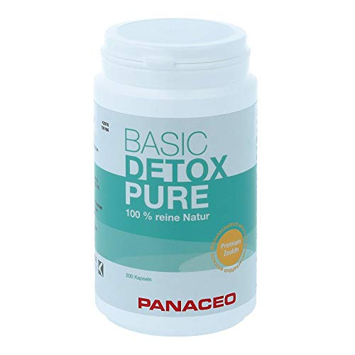 mächtig Panaceo Basic Detox pure: Ein veganes Bio-Medizinprodukt, das zu 100% aus Zeolith besteht, um den Darm zu entgiften…