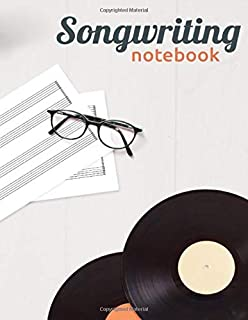 My Song Writing Notebook: The lyrics In My Head Lyrics Notebook - College Rule Lined Writing and Notes Journal (Songwriter...