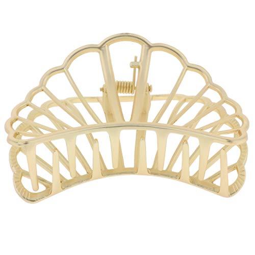 P Prettyia Haarkrebs Haarklammer Haarspange Claw Clips Klaue Clip Haarkneifer Haarschmuck für Dickes Haar - Matt Gold