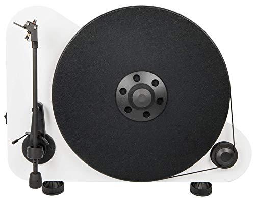 Pro-Ject VT-E L, Vertikaler Plug&Play Plattenspieler, Linkshänder (Weiß)