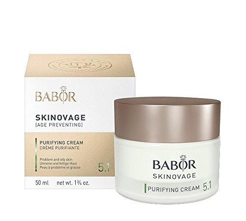BABOR SKINOVAGE Purifying Cream, Gesichtscreme für unreine Haut, Klärende und porenverfeinernde Feuchtigkeitspflege, Vegane Formel, 1 x 50 ml