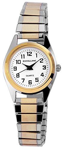 Excellanc Damenuhr mit Metall Zugband, Analog, Armbandbreite 14 mm