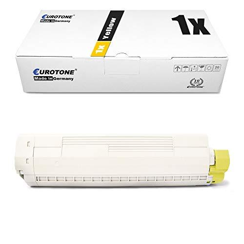 1x Eurotone Toner für Oki MC 860 wie 44059209 Yellow Gelb Druckerpatrone Patrone