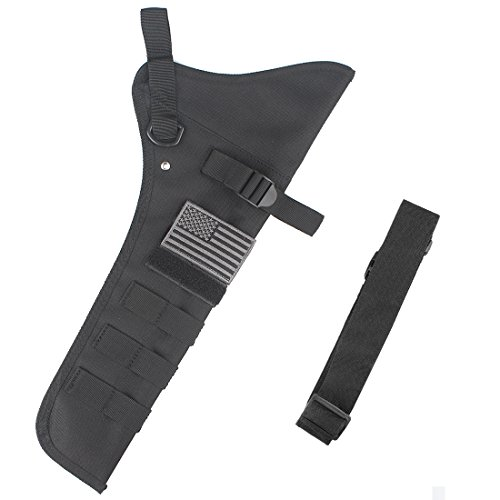KRATARC Archery Lightweight Hip Arrow Quiver Foldable Compact Arrows Bag with Molle System Hanged for Target Shooting (Black- (with Belt))