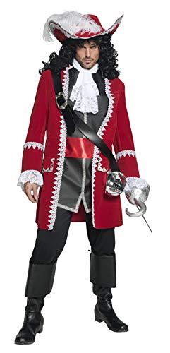 Smiffy's - Disfraz de capitán pirata para hombre, talla M (36174M)