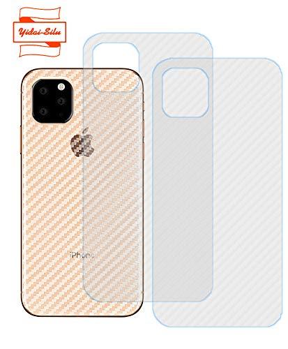 Yidai-Silu 3pcs iPhone 11 Pro Max Rückseite Folie, 【Kohlefaser Atmungsaktiv Struktur, Anti-Rutsch, Anti-Fingerabdruck】 Kratzfest Back Klebefolie für iPhone 11 Pro Max 6,5 Zoll Protector Film