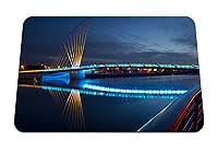 26cmx21cm マウスパッド (橋アーキテクチャ夜川街の明かり) パターンカスタムの マウスパッド