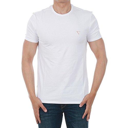 Guess Jeans M81I32J1300 T-Shirt mit Kurtzen Ärmeln Harren Bianco A000 2XL