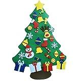 GOODGDN Árbol de Fieltro Alto y Duradero, árbol de Navidad del Fieltro de los DIY fijó,...