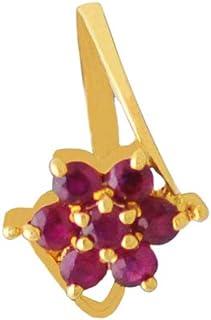 Lagu Bandhu 18k (750) Yellow Gold and Ruby Ring for Women