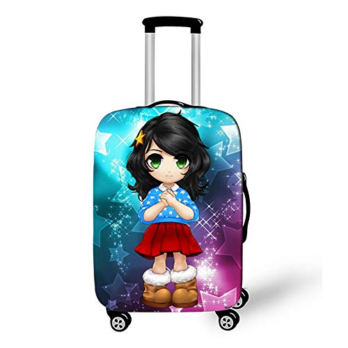 Elastic Luggage Cover, CNNINHAO 3D Print Trolley Case Protective Travel Suitcase Anti Scratch Dustproof Resistant Case Trolley Skin Protector Elasticized Washable (10,M (22-24inch))