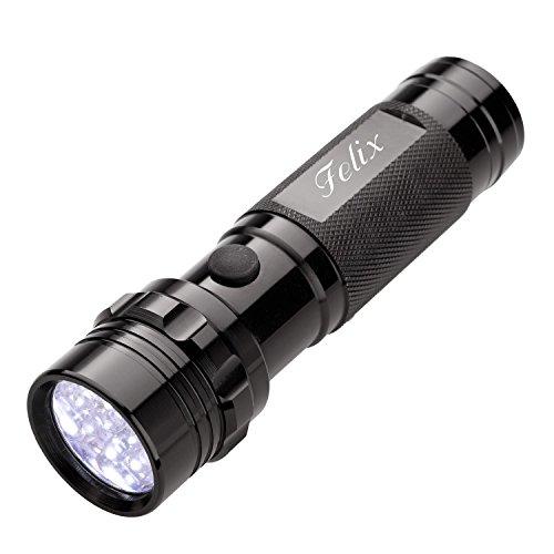 Cadenis LED Taschenlampe mit persönlicher Gravur Stab-Taschenlampe mit 14 LEDs schwarz 12 x 3 cm