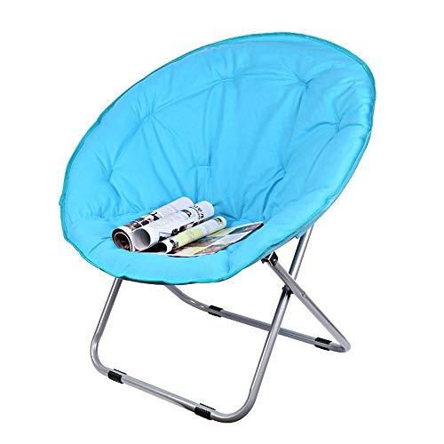 Sedie a sdraio - Adult pigro Radar Lounge pieghevole rotondo Divani in tessuto di spessore verticale Cotton acciaio piattino campeggio pieghevole rotonda sedia imbottita sedile Heavy Duty telaio in ac