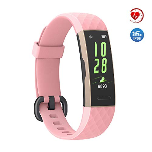 Fitness Tracker HR with Step Counter, IP68 Waterproof Activity Tracker with Heart Rate Monitor, Calorie Counter, Sleep Monitor Fitness Watch with Multi-Sports Model for Kids Women Men as Best Gift