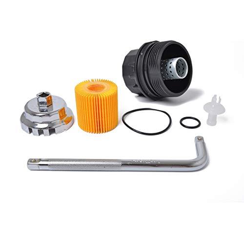JIANGNANCHUN toepasbaar op compatibel met Toyota Lexus Sain reparatieset oliefilter + filterafdekking - gereedschap zwart
