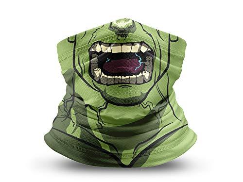 COOLINKO Superhero Villain Face Cover Gaiter Neck Scarf Balaclava Bandana Lightweight Breathable Washable Mask for Dust Outdoor Protection Headgear Covering Men Women Halloween Costume Cosplay (#01)