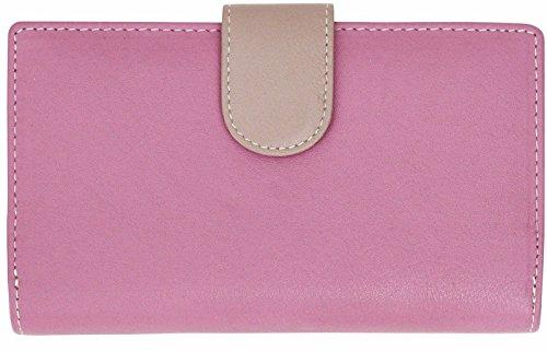 Felda portafoglio RFID da donna - 19 fessure per carte - vera pelle - multicolore - perlato multicolore