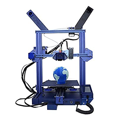 Lotmaxx Shark 3D Printer with Dual Extruder, Laser Engraving & Two-Color Printing 2 in 1, 95% Preassembled Metal 3D Printer Machine with Magnetic Bed, Print Size 235x235x265mm (Blue)