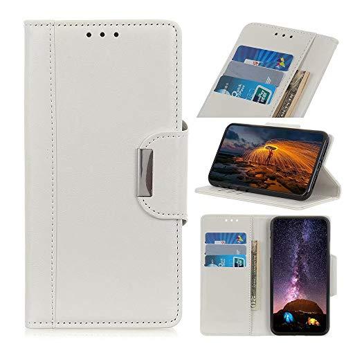 Funda para iPhone 12 Mini de piel de alta calidad a prueba de golpes, diseño de libro con cierre magnético, función atril, protección completa compatible con iPhone 12 Mini teléfono caso blanco