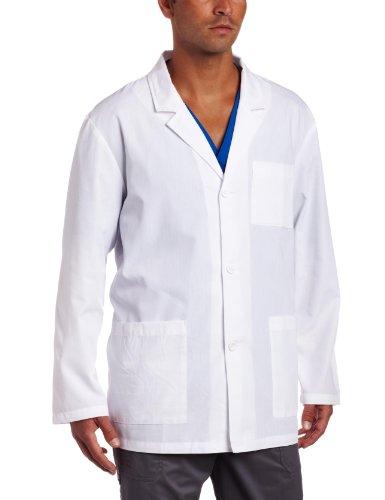 Dickies Everyday Scrubs Men's 31 Inch Lab Coat,White,Medium