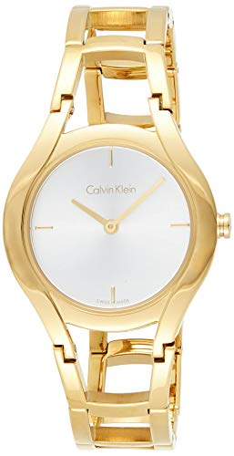 Calvin Klein Reloj Analogico para Mujer de Cuarzo con Correa en Acero Inoxidable K6R23526