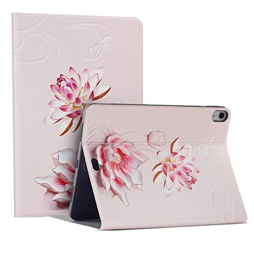 HaoHZ IPad Air 4 10.9 Case 4th Generation 2020 [Support Apple Pencil 2 Charging], Multi-Angle Stand Protective Folio Case Smart Cover,lotus