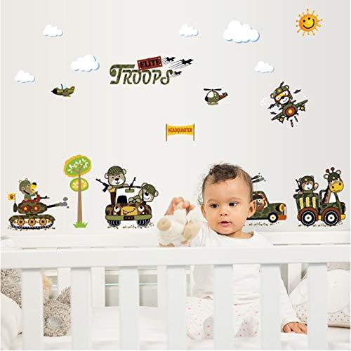 SIUS0Q Creative Tank Salon Chambre Chambre d'enfant Enfants Eco-Friendly Vinyle Amovible DIY Stickers Muraux Stickers Imperméables Décor Mural
