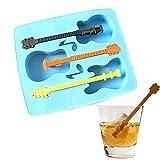 WUSYO Eiscreme Werkzeuge Kreative Gitarre DREI Eiswürfelform Eiswürfel Machen Geschenk Eiswürfel...