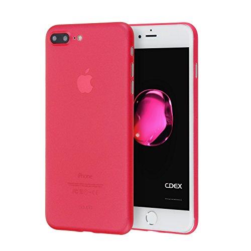 doupi UltraSlim Funda para iPhone 8 Plus / 7 Plus (5,5 pulgadas), Finamente Estera Ligero Estuche Protección, rojo