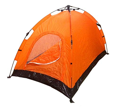 EDMBG Instant Automatic Pop Up Backpacking Camping Hiking 2 Man Tent Orange Sealed