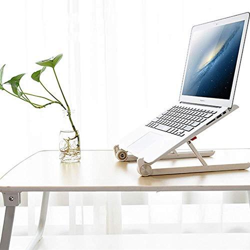 Jsmhh Escritorio portátil, plegable cama de la tabla, tabla del ordenador, Altura Sofá bandeja ajustable