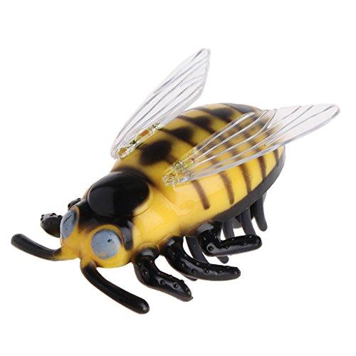 Autone Katzenspielzeug, interaktives Spielzeug, Käfer, Zikade, laufendes Insekten mit elektrischem Antrieb, Mini-Spielzeug, Yellow Cicada