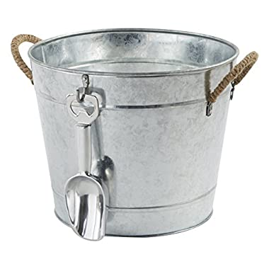 Mud Pie 3-in-1 Aluminum Party Bucket, Silver
