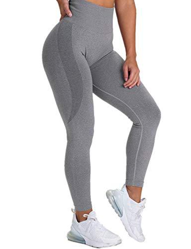 SHAPERIN Damen PO Push up Leggings Butt Lifter Cellulite Hose Anti-cellulitte Kompressionshose Gym Leggings Blickdicht Jogginghose Sport Tights Gegen Cellulite für Fitness(#2 Grau,S)