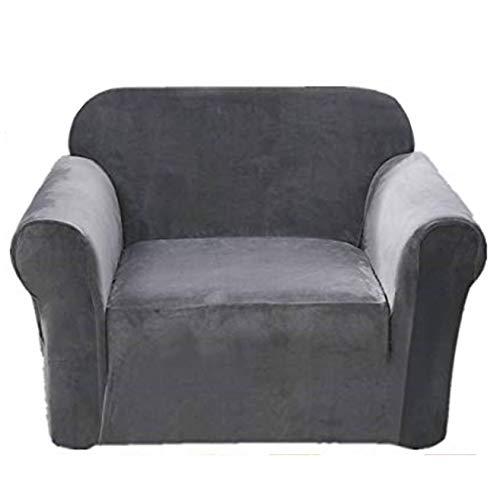 Argstar Velvet Armchair Slipcover, Armchair Covers Velvet, Armchair Slipcovers Velvet, Chair Protector with Arms for Living Room, Gray
