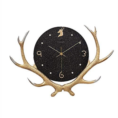 BGROESTWB Relojes de Pared Moderna Minimalista Reloj Principal de los Ciervos Reloj de Pared de la Sala de Estar del Reloj de la Personalidad Creativa del Reloj Inicio Sala de Estar Decorativa