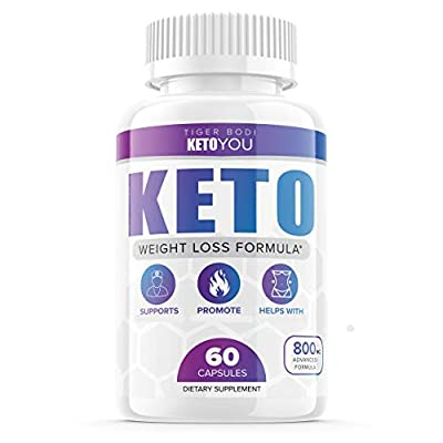 Keto You Diet Pills 800mg Supplement Ketoyou Advanced Weight Formula for Women and Men, Exogenous Ketones for Rapid Ketosis (60 Capsules)