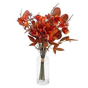 LSME Artificial Plumeria Flowers Bouquet White for Decoration Arrangements in Vase Home Living Room Party