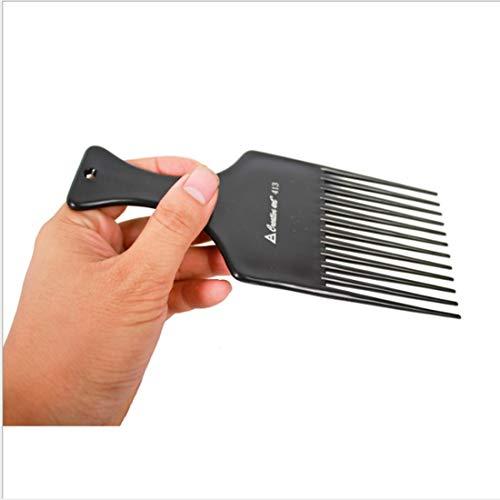 WDSFT Peigne -Smooth Conditioning Cheveux Rake Peigne for Coiffure Fourche Longueur -7inch Couleur natuaral Noir et Chocolat (Color : Black)