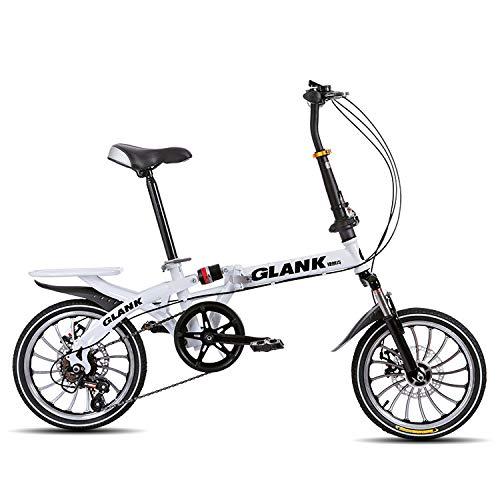LXLTLB Klapprad Student Unisex Kind Folding City Bike Geeignet Höhe 140-180 cm 20 Zoll Stoßdämpfung Folding Bike,C