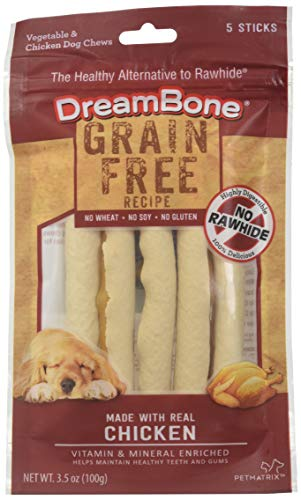 DreamBone Grain Free Recipe Stick Dog Chews, Made with Real Chicken (DBGF-02863)
