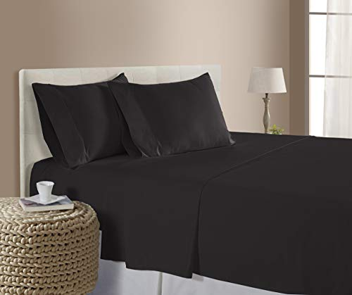 Split-King (39x80) Adjustable Bed Size Sheets Luxury Soft Heavy Egyptian Cotton 5-PCs Sheet Set Fits Mattress 10-12' Pockets, Dark Grey Color 1800 Thread Count (Pattern : Solid)