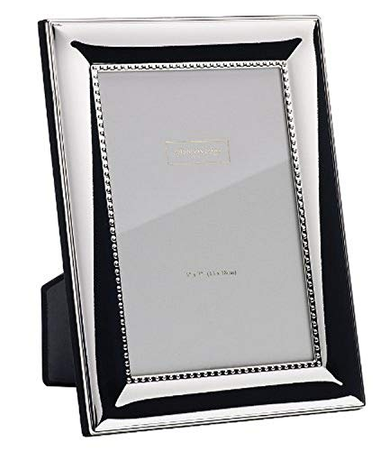 Addison Ross Ltd. - Cornice per foto, placcata argento, con bordo interno decorato, 20,3 x 25,4 cm, placcato argento