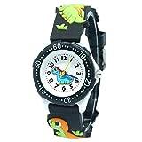 Hinder Kinder-Armbanduhr für Schule und Kleinkinder, 3D-Cartoon-Motiv, Quarzuhrwerk, langlebiges Silikon, Geschenk für Weihnachten, Geburtstag, 3–10 Jahre