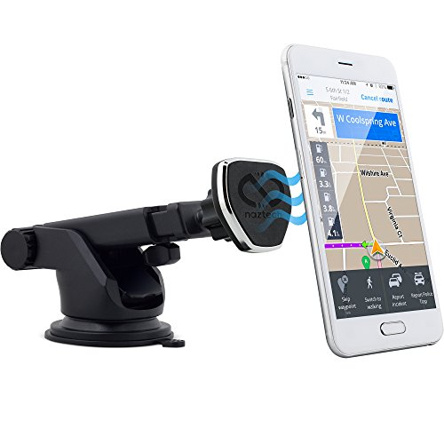 Naztech MagBuddy Dash Telescopic Phone Mount [Hands-Free] Compatible for iPhone 12 /SE 2020/11/Pro/Pro Max, Galaxy S20/S10/S9, Note 20 5G/10/9 + More